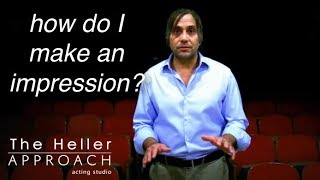 Free Acting Lessons : How to make an Impression