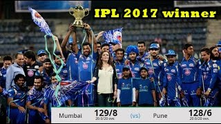 IPL 2017 final Mumbai indian Celebration, Pune Supergiant vs Mumbai Indians:MIbeat RPSby 1 run