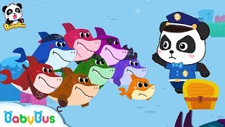 Baby Shark Vs Baby Panda Policeman   Number Song,Learn Colors   Kids Safety Tips   BabyBus Song