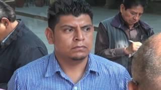 Ex candidatos de San Martín Loxicha exigen a IEEPCO valide su triunfo.