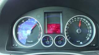 VW Golf 5 V GTI TFSI 2.0 Turbo acceleration 0-180 km/h