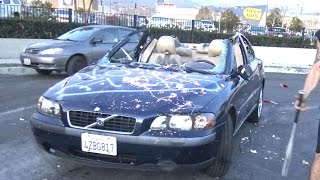 Destroying Rental Car Prank -