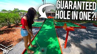 HAVE YOU EVER SEEN A MINI GOLF COURSE DO THIS?! - GUARANTEED HOLE IN ONE?