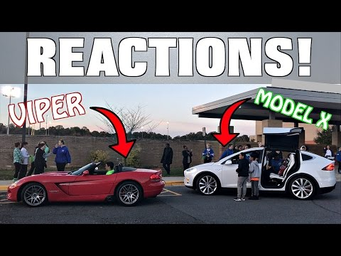 Xxx Mp4 Driving The Viper Model X In A School Parade Hilarious Reactions 3gp Sex