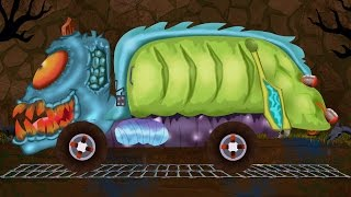 garbage truck   car garage   car formation   scary video for children