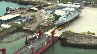 FMMM3 SIGMA 9813 Launch at Damen Schelde Naval Shipbuilding