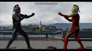 (PPSSPP) Ultraman fighting evolution 0 Chaosroid Seven Vs Ultra Seven