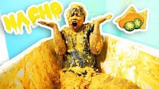 NACHO CHEESE BATH CHALLENGE!