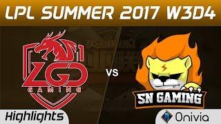 LGD vs SNG Highlights Game 2 LPL SUMMER 2017 LGD Gaming vs Suning Gaming by Onivia