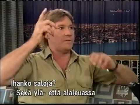 Steve Irwin on Conan funny.