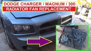 How to Remove and Replace the Radiator Fan on Dodge Charger Dodge Magnum Chrysler 300