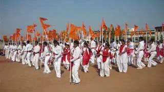 Flag dance of Shivaji d.ed college solapur click by Balaji