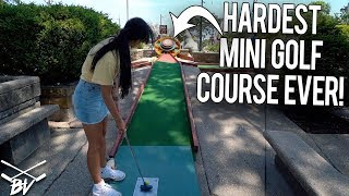 I HAVE NEVER SEEN A CRAZY MINI GOLF COURSE LIKE THIS! - INSANE HOLES AND SHOTS!