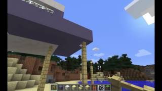 My Realm  Lets Build A Life Guard Tower on the Beach  Minecraft