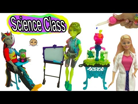 Xxx Mp4 Science Class With Monster High Students Teacher Barbie Doll With Color Change Experiment 3gp Sex