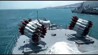 Reload dan Penembakan Peluncur Roket Anti Kapal Selam RBU-6000