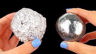Mirror polishing aluminum foil ball - Japanese foil ball polishing challenge