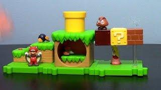JAKKS Pacific Super Mario Acorn Plains Micro Land Playset (w/ Squirrel Mario) Toy Review