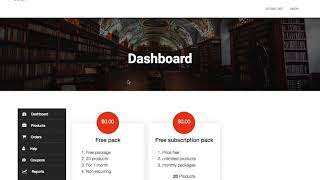 How to create free package in Dokan Subscription