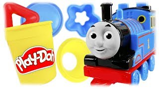 Thomas the Train Review Play Doh Shape and Learn Colors & Shapes