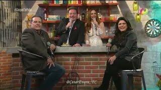 Cesar Evora junto a Victoria Ruffo en