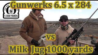 Gunwerks 6.5 x 284 Norma vs Milk Jug at 1000 Yards w  Slow Mo Target Cam LRSU Milk Jug Challenge   A