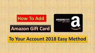 How To Add Amazon Gift Card To Your Amazon Account   Easy Method 2018   Masti Manoranjan  