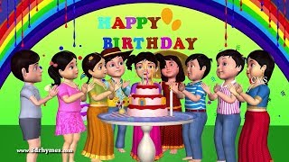 Happy Birthday Song - 3D Animation English Nursery Rhymes & Songs For Children
