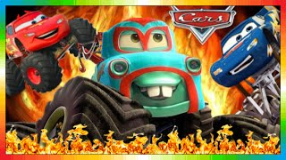 CARS ESPAÑOL - MONSTER MATE TRUCK - Película Niños - Movie + El Rayo McQueen ( 1 2 3 Monstertrucks )