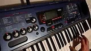 Yamaha DJX - demo of a rare (and excellent) keyboard/sampler