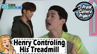 [Prank Cam Project Hosted By Henry] Henry Irritating Him With Speed Up The Pace Of Treadmill EP.15