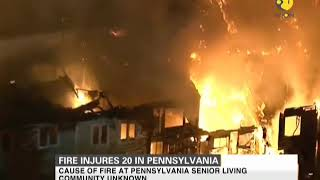 Fire injures 20 in Pennsylvania