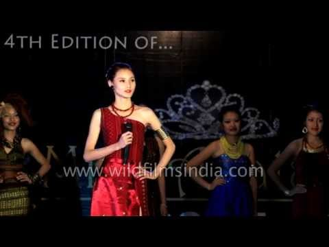 Indian beauty contest: Question & answer round Miss Apatani, Arunachal Pradesh