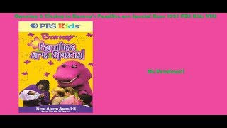 Barney's Families are Special Rare 1997 PBS Kids VHS Opening & Closing