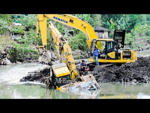 Excavator Accident Heavy Recovery Komatsu PC200