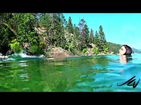Ever see a horse swim from underwater Lake Okanagan Stables Ride n Swim HD