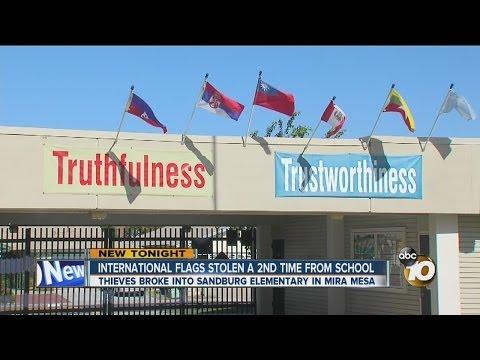 Xxx Mp4 International Flags Stolen From Sandburg Elementary School Again 3gp Sex