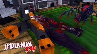 Minecraft SPIDERMAN.EXE - DONUT IS BITTEN BY A POISONOUS SPIDER & TURNS INTO SPIDERMAN.EXE!!