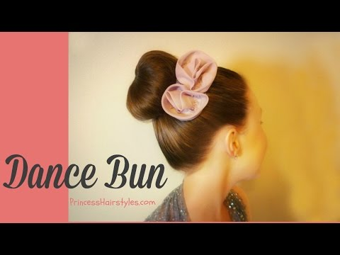 How To Make A Donut Bun / Sock Bun With No Ends, Dance Hairstyles