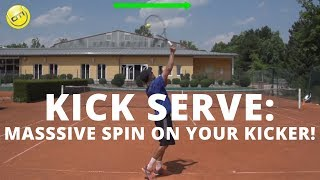 Tennis Kick Serve Drill: How To Get Massive Spin On Your Kick Serve