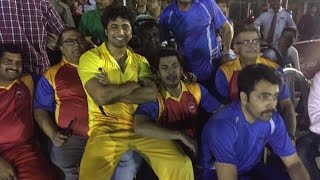 Celebrity Cricket : Caught by Shishir Ghosh,Bowled by Dev