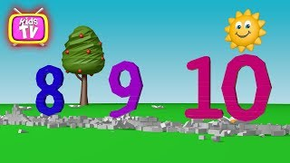 Learn Numbers - building a wall with numbers - Cartoon Learning for kids