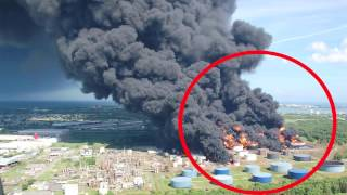 UFO METEOR CRASHES INTO FACTORY ---CAUGHT ON TAPE!!!!! INSANE!!!!