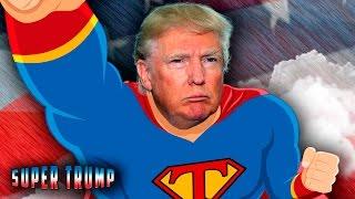 Super Trump - Times Square Digital Billboard
