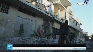 غارات على عربين في الغوطة الشرقية
