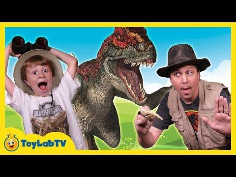 Raptor Dinosaurs vs Park Ranger Aaron