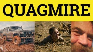 Quagmire - Meaning - Eplanation - Examples - ESL British English Pronunciation