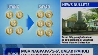 Saksi: Mga nagpapa-5-6, balak ipahuli ng administrasyong Duterte