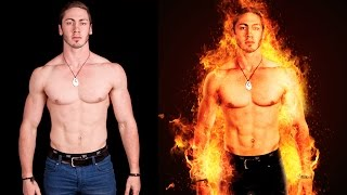 Photoshop Tutorial | Fire Portrait Manipulation | Photo Effects