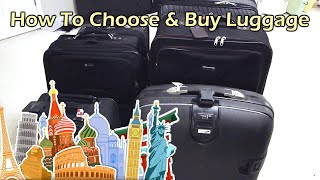 How to choose and buy luggage for travel